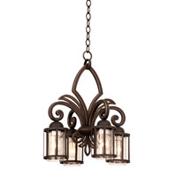 Kalco Keswick 4 Light Chandelier in Antique Copper 6687AC