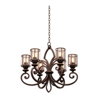 Keswick 6 Light 26 inch Antique Copper Chandelier Ceiling Light