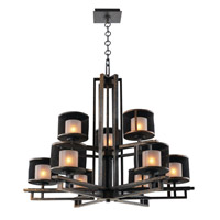 Stanley 9 Light 33 inch Volcano Bronze Chandelier Ceiling Light in VB FALL CLEARANCE