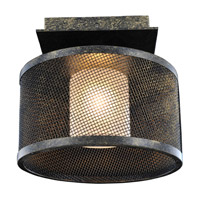 Kalco Lighting Stanley 1 Light Semi Flush in Volcano Bronze 6719VB