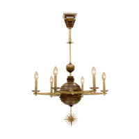 Kalco Hampton 6 Light Chandelier in Bellagio 6930BG