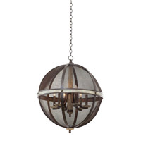 Kalco Lighting Coronado 2 Light Chandelier in Florence Gold 7041FG