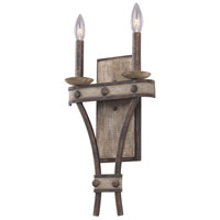 Coronado 2 Light 10 inch Florence Gold Wall Sconce Wall Light