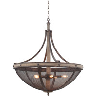 Coronado 6 Light 31 inch Florence Gold Pendant Ceiling Light