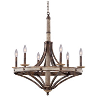 Kalco 7046FG Coronado 6 Light 30 inch Florence Gold Chandelier Ceiling Light