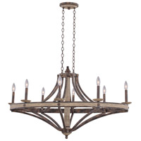 Kalco Coronado 8 Light Chandelier in Florence Gold 7048FG