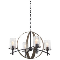 Kalco Irvine 4 Light Chandelier in Vintage Iron 7097VI