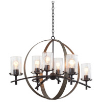 Kalco Irvine 8 Light Chandelier in Vintage Iron 7098VI
