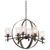 Kalco 7098VI Irvine 8 Light 33 inch Vintage Iron Chandelier Ceiling Light