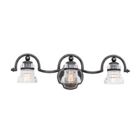 Kalco Lighting Hemmingray 3 Light Bath Vanity in Vintage Iron 7173VI