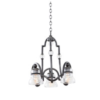 Kalco Lighting Hemmingray 3 Light Chandelier in Vintage Iron 7177VI