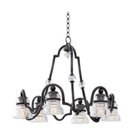 Kalco Hemmingray 6 Light Chandelier in Vintage Iron 7178VI