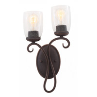 Castaic 2 Light 9 inch Vintage Iron Wall Bracket (Right) Wall Light
