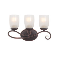 Castaic 3 Light 16 inch Antique Copper Bath Vanity Wall Light FALL CLEARANCE