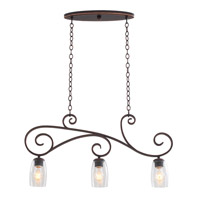 Kalco Castaic 3 Light Island Light in Antique Copper 7205AC