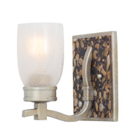 Largo 1 Light 6 inch Tarnished Silver Bath Vanity Wall Light FALL CLEARANCE