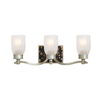 Largo 3 Light 21 inch Tarnished Silver Bath Vanity Wall Light FALL CLEARANCE