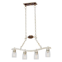 Kalco Lighting Largo 4 Light Island Light in Tarnished Silver 7215TS