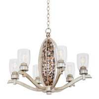 Kalco Lighting Largo 6 Light Chandelier in Tarnished Silver 7217TS