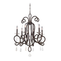 Kalco Winona 7 Light Chandelier in Tarnished Brass 7227TB