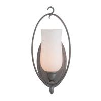 Kalco Lighting Mateo 1 Light Bath Light in Flecked Iron 7231FI/OPAL