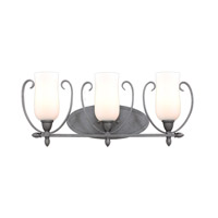 Kalco Lighting Mateo 3 Light Bath Light in Flecked Iron 7233FI/OPAL