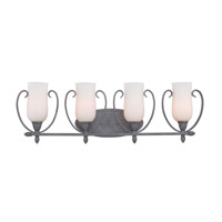 Kalco Lighting Mateo 4 Light Bath Light in Flecked Iron 7234FI/OPAL