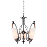 Mateo 3 Light 18 inch Hierloom Bronze Chandelier Ceiling Light in OPAL, Flecked Iron FALL CLEARANCE