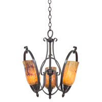 Mateo 3 Light 18 inch Hierloom Bronze Chandelier Ceiling Light in Penshell (PENSH) FALL CLEARANCE