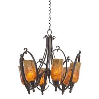 Kalco Mateo 6 Light Chandelier in Heirloom Bronze 7238HB