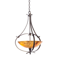 Kalco Lighting Mateo 3 Light Pendant in Heirloom Bronze 7239HB
