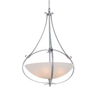 Kalco Lighting Mateo 5 Light Pendant in Flecked Iron 7240FI/OPAL