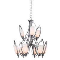 Mateo 9 Light 30 inch Hierloom Bronze Chandelier Ceiling Light in OPAL, Flecked Iron FALL CLEARANCE