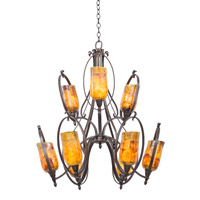 Mateo 9 Light 30 inch Hierloom Bronze Chandelier Ceiling Light in Penshell (PENSH) FALL CLEARANCE