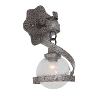 Kalco 7271HS Odessa 1 Light 8 inch Hammered Silver Wall Sconce Wall Light