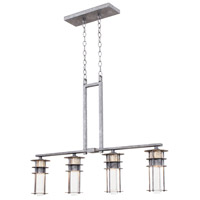 Anchorage 4 Light 37 inch Hammered Silver Island Light Ceiling Light