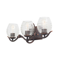Kalco Lighting Seabrook 3 Light Bath Vanity in Antique Copper 7353AC