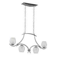 Seabrook 4 Light 36 inch Antique Copper Island Light Ceiling Light in Moon Silver