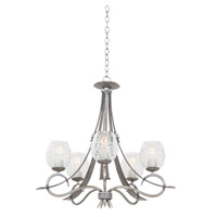 Seabrook 5 Light 27 inch Antique Copper Chandelier Ceiling Light in Moon Silver