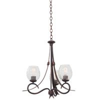 Kalco Lighting Seabrook 3 Light Chandelier in Antique Copper 7358AC