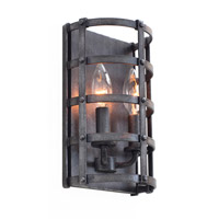 Kalco Townsend 2 Light Wall Sconce in Vintage Iron 7402VI