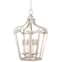 Kalco 7414PS Livingston 4 Light 14 inch Pearl Silver Hanging Lantern Ceiling Light