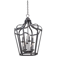 Kalco Lighting Livingston 6 Light Hanging Lantern in Charcoal 7415CL