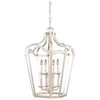 Kalco 7415PS Livingston 6 Light 30 inch Pearl Silver Hanging Lantern Ceiling Light
