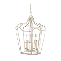 Livingston 6 Light 30 inch Pearl Silver Lantern Ceiling Light