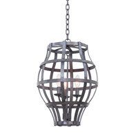 Kalco Lighting Townsend 3 Light Hanging Lantern in Vintage Iron 7494VI