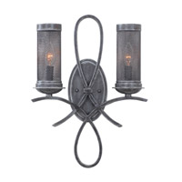 Kalco Delancy 2 Light Wall Sconce in Vintage Iron 7526VI