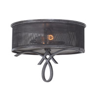 Delancy 2 Light 20 inch Vintage Iron Flush Mount Ceiling Light FALL CLEARANCE