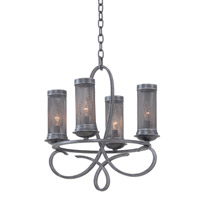 Kalco Lighting Delancy 4 Light Chandelier in Vintage Iron 7531VI