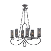 Kalco Lighting Delancy 6 Light Chandelier in Vintage Iron 7533VI